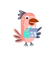 Parrot With Party Attributes Girly Stylized Funky vector image vector image