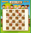 path board game template vector image vector image