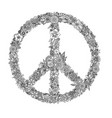 peace symbol coloring page vector image