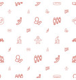 people icons pattern seamless white background vector image vector image