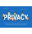 Privacy concept vector image vector image