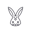 rabbit head line icon sign vector image vector image