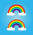 rainbow and cloud vector image vector image