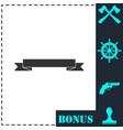 ribbon icon flat vector image