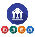 round icon of bank building ancient style vector image vector image