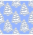 Seamless pattern of Christmas tree in snow vector image vector image