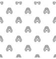 Seamless pattern with poodle Dog head flat icon vector image vector image