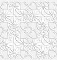 seamless white floral ornament vector image