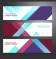 set of horizon abstract colorful display banner vector image vector image