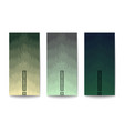 set of modern backgrounds layered effect vector image vector image
