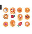 set of pancakes vector image