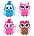 set owls vector image vector image