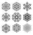 set snowflakes vector image vector image