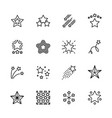 simple icon set five star contains such symbols vector image vector image