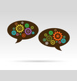 speech bubbles ideas vector image