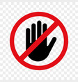 stop hand sign no entry icon vector image