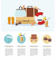 summer vacation infographic vector image