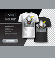 t-shirt template fully editable with skull and vector image vector image