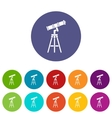 Telescope set icons vector image vector image