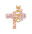 the online business handbook a must read for vector image vector image