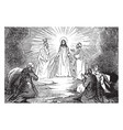 the transfiguration vintage vector image vector image