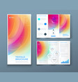 tri fold brochure design with liquid abstract vector image vector image