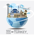turkey landmark global travel and journey vector image vector image