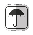 umbrella packing symbol icon vector image vector image