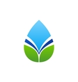 water drop leaf logo waterdrop and natural leaves vector image