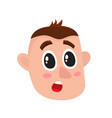 young man face surprised facial expression vector image vector image