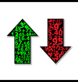 Up and Down Arrows Stock Black vector image