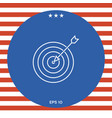 target goal line icon vector image