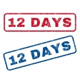 12 Days Rubber Stamps vector image vector image