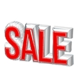 3d text SALE Sale poster isolated white vector image vector image