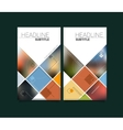 Abstract blurred material design brochure vector image vector image