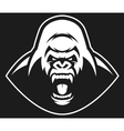 Angry gorilla symbol vector image vector image