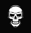 angry skull zombie death skeleton symbol vector image