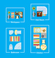 apartment interior design vector image
