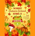 autumn sale banner design of fall harvest holiday vector image vector image
