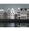 Black and white Amsterdam vector image vector image