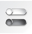 black and white button sliding on white background vector image vector image