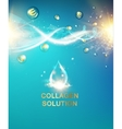 Blue background with DNA vector image vector image