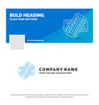 blue business logo template for medicine pill vector image