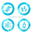 blue science icons isolated vector image vector image