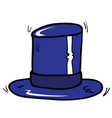 blue top hat vector image vector image