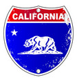 california interstate sign vector image vector image
