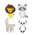 cartoon cute animals vector image vector image