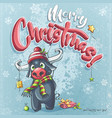 cartoon marry christmas funny vector image vector image