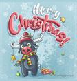 cartoon marry christmas funny vector image