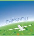 chengdu flight destination vector image vector image